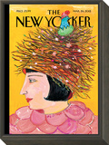 The New Yorker Cover - March 26, 2012 Framed Print Mount by Maira Kalman