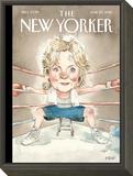 The New Yorker Cover - June 20, 2016 Framed Print Mount by Barry Blitt