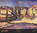 Le Port de Cassis a la Barriere Samlartryck av Charles Camoin