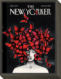 Homage - The New Yorker Cover, March 29, 2010 Framed Print Mount by Ana Juan