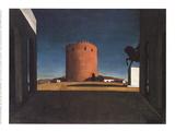 The Red Tower Samlertryk af Giorgio De Chirico