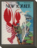The New Yorker Cover - March 22, 1958 Framed Print Mount by Arthur Getz