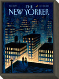 Twilight - The New Yorker Cover, October 25, 2010 Framed Print Mount by Eric Drooker