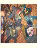 Les Demoiselles D'Avignon Collectable Print by Enrico Baj