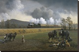 Great Western Near South Brent, 1913 Stretched Canvas Print by Gerald Broom