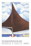 Brown Sail Samlertryk af Georgia O'Keeffe
