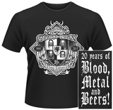 Orange Goblin- 20 Years of Blood, Metal & Beers (Front/Back) T-Shirts