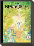 The New Yorker Cover - May 19, 2008 Framed Print Mount by Jean-Jacques Sempé