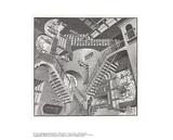 Relativité Reproduction pour collectionneur par M.C. Escher