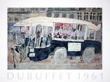 Autobus Gare Montparnasse, Porte des Lilas Collectable Print by Jean Dubuffet