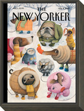Baby, It?s Cold Outside - The New Yorker Cover, February 8, 2010 Framed Print Mount by Ana Juan