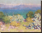 In the Morning, Alpes Maritime from from Antibes Stretched Canvas Print by John Peter Russell