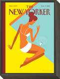 Dropped Call - The New Yorker Cover, August 9, 2010 Framed Print Mount by Christoph Niemann