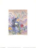 The Arum Lilies Bouquet Samlertryk af Raoul Dufy