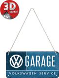 VW - Garage Plaque en métal