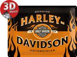Harley-Davidson 1903 Logo Orange Plaque en métal