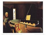 Six Appearances Of Lenin On A Piano Plakater av Salvador Dali