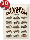 Harley-Davidson Model Chart Blikskilt