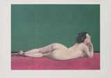 Reclining Nude Female Posters by Felix Vallotton