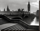 Bridge With Big Ben Stretched Canvas Print by  The Chelsea Collection
