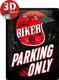 Biker Parking Only - Helmet Blikskilt
