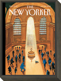 The New Yorker Cover - January 28, 2008 Framed Print Mount by Mark Ulriksen
