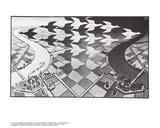 Dag og nat Samlertryk af M.C. Escher