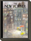 The New Yorker Cover - January 10, 2005 Framed Print Mount by Jean-Jacques Sempé