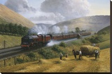 LMS The Royal Scot, Tebay Troughs, 1935 Stretched Canvas Print by Gerald Broom