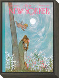 The New Yorker Cover - June 19, 1965 Framed Print Mount by William Steig