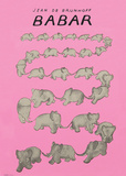 Babar The Pink Carousel Poster by Jean de Brunhoff