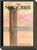 The New Yorker Cover - December 4, 2000 Framed Print Mount by Jean-Jacques Sempé