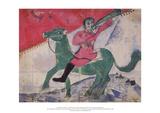 The Rider Samlertryk af Marc Chagall