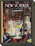 The New Yorker Cover - February 5, 1996 Framed Print Mount by Jean-Jacques Sempé