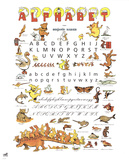 Alphabet Collectable Print by Benjamin Rabier