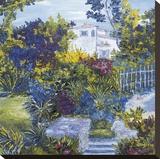 Maison sur la Cote D'azur Stretched Canvas Print by Tania Forgione