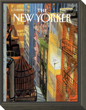 The New Yorker Cover - September 20, 1993 Framed Print Mount by Jean-Jacques Sempé