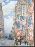 The Fourth of July, 1916 Stretched Canvas Print by Frederick Childe Hassam