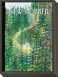 The Joys and Torments of Solitude - The New Yorker Cover, August 2, 2010 Framed Print Mount by Jean-Jacques Sempé