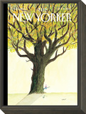 The New Yorker Cover - October 15, 2007 Framed Print Mount by Jean-Jacques Sempé