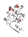 Lingonberry Branch Giclee Print