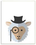 Hipster Sheep Illustration Wall Plaque Art Wood Sign