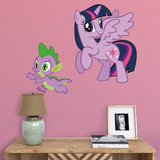 Hasbro My Little Pony Twilight Sparkle and Spike Fathead Jr. Wall Decal