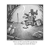 """Turns out the sound of the squeaky toy was coming from inside the house."" - New Yorker Cartoon Premium Giclee Print by Harry Bliss"