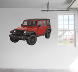 Jeep 2015 Wrangler Unlimited Willy RealBig Wall Decal