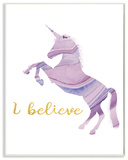 I Belive In Unicorns Geode Silhouette Wall Plaque Art Wood Sign