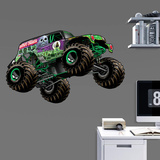 Monster Jam GraveDigger Illustrated Fathead Jr. Wall Decal