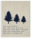 You are Loved Son Trees Wall Plaque Art Wood Sign