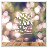 Set Your Minds on Things Above Wall Plaque Art by EtchLife Wood Sign