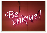 Be Unique Neon Sign Photography Wall Plaque Art Wood Sign